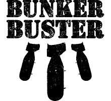 Bunker Buster Military Themed Design Photographic Print