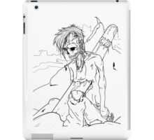 Zombie killed by Snowboard iPad Case/Skin