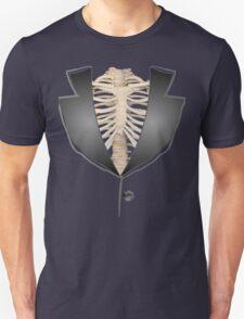 Gothic halloween rib cage human skeleton tuxedo Unisex T-Shirt