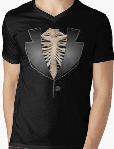 Gothic halloween rib cage human skeleton tuxedo Mens V-Neck T-Shirt