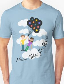 Music Takes You Places Unisex T-Shirt