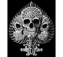 Skull Spade Photographic Print