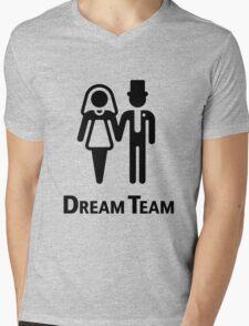 Dream Team (Bridal Pair / Wedding / Marriage / Black) Mens V-Neck T-Shirt