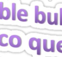DOUBLE BUBBLE DISCO QUEEN TUMBLR Sticker