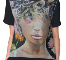 Kissed by Asteraceae Chiffon Top