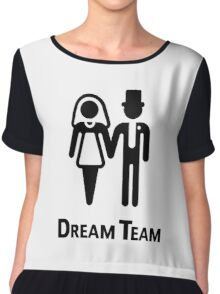 Dream Team (Bridal Pair / Wedding / Marriage / Black) Chiffon Top