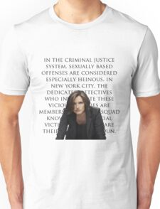 Benson and SVU intro Unisex T-Shirt