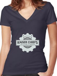 kaiser chiefs Women's Fitted V-Neck T-Shirt