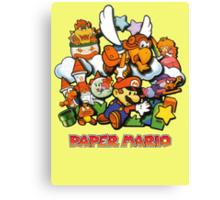 Paper Mario Canvas Print