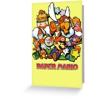 Paper Mario Greeting Card
