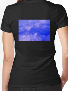 Aerial Blue Hues III  Women's Fitted V-Neck T-Shirt