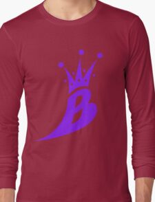 Lil' Kim The Queen Bee Collection Logo - Purple  Edition Long Sleeve T-Shirt