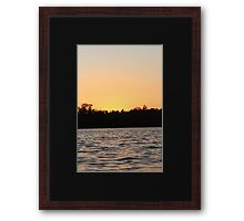 Evening Night Sunset  Framed Print