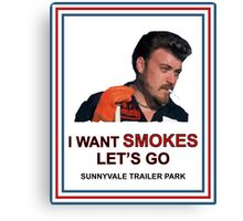I Want Smokes (transperent background) Canvas Print