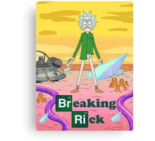 Breaking Rick Parody Canvas Print