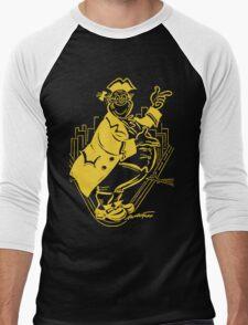 """Pa Pitt"" Black and Gold Men's Baseball ¾ T-Shirt"