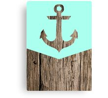 Wood and anchor Canvas Print