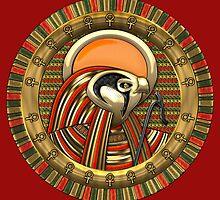 Egyptian Falcon Sun God Ra by Captain7