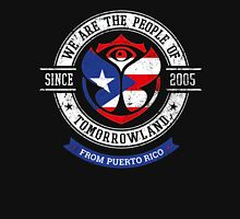 People of Tomorrowland country Flags logo Badge - puerto Rico - Portoricain - Porto Rico - Puerto Rican - Caraibes - San Juan Unisex T-Shirt