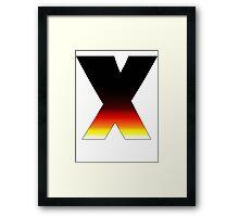 """X"" Letter Comic Book Style Framed Print"