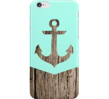 Wood and anchor iPhone Case/Skin