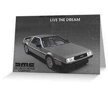 80s DeLorean advertisement  Greeting Card