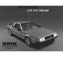 80s DeLorean advertisement  Photographic Print