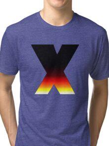 """X"" Letter Comic Book Style Tri-blend T-Shirt"