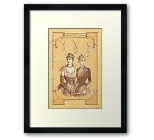 Sisters Emmaline And Cornelia Always Wore The Biggest Hats Framed Print