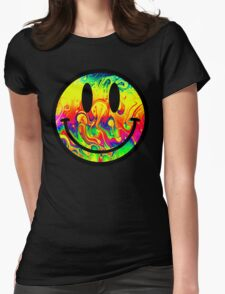 smiley Womens Fitted T-Shirt