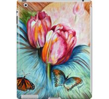 Tulips and butterfly iPad Case/Skin