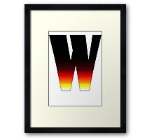 """W"" Letter Comic Book Style Framed Print"