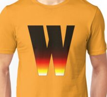 """W"" Letter Comic Book Style Unisex T-Shirt"