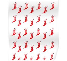 Lil' Kim The Queen Bee Logo Collection - ALL OVER PRINT EDITION (Red) Poster