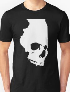 Skullinois (White Graphic) Unisex T-Shirt