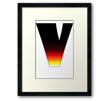 """""""V"""" Letter Comic Book Style Framed Print"""
