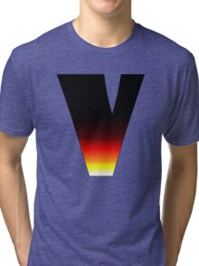 """V"" Letter Comic Book Style Tri-blend T-Shirt"