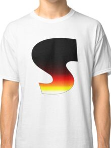 """""""S"""" Letter Comic Book Style Classic T-Shirt"""