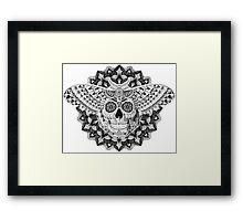 Skull Moth Framed Print