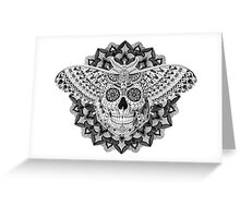 Skull Moth Greeting Card