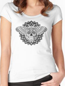 Skull Moth Women's Fitted Scoop T-Shirt