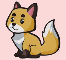 Baby Fox -Gold One Piece - Short Sleeve