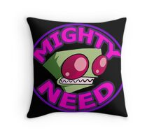 Invader Zim Mighty Need Throw Pillow