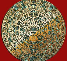 Ancient Mayan (Aztec) Calendar (Jade & Gold)  by Captain7
