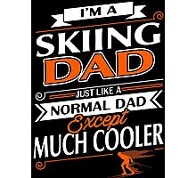 SKIING DAD Photographic Print