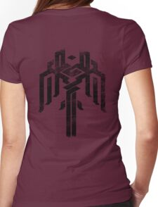 Kirkwall crest grunge Womens Fitted T-Shirt