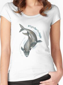 Southern Right Whales - Fight for the Bight Women's Fitted Scoop T-Shirt
