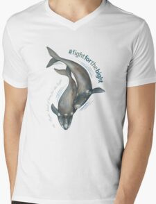 Southern Right Whales - Fight for the Bight Mens V-Neck T-Shirt