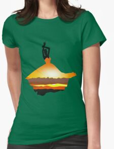 Sunset Lady Womens Fitted T-Shirt