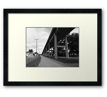 City Street In Black and White Framed Print